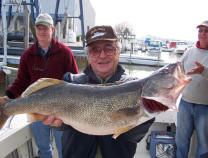 "Catch trophy Lake Erie walleye aboard the charter boat ""Pooh Bear"""