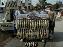 Huge Lake Erie Walleye limit catch on Pooh Bear's 41' Viking Sportfish charter boat